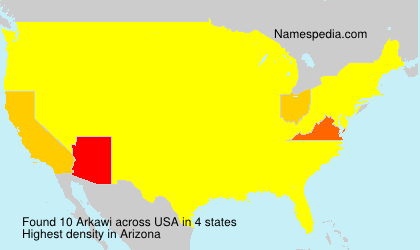Surname Arkawi in USA