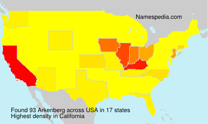 Surname Arkenberg in USA