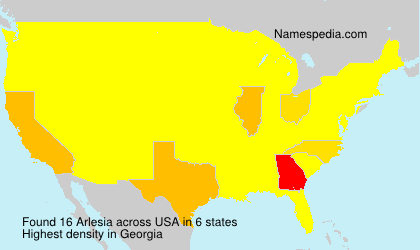 Surname Arlesia in USA