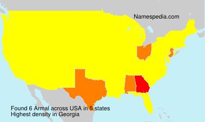 Familiennamen Armal - USA