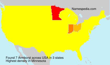 Familiennamen Armborst - USA