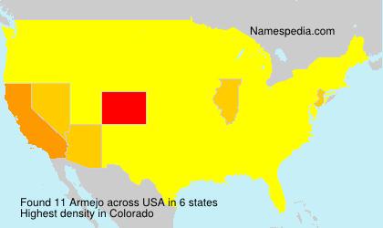 Familiennamen Armejo - USA