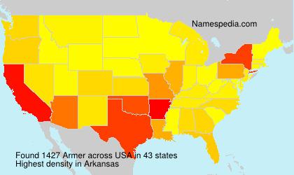 Familiennamen Armer - USA