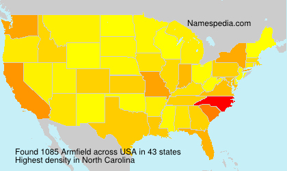 Surname Armfield in USA