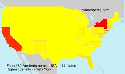 Familiennamen Armiento - USA