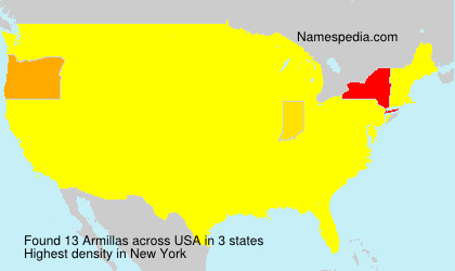 Surname Armillas in USA