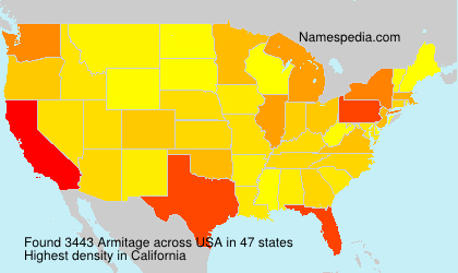 Surname Armitage in USA