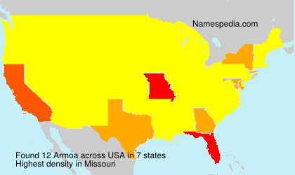 Surname Armoa in USA