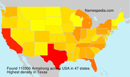 Surname Armstrong in USA