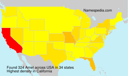 Surname Arnel in USA