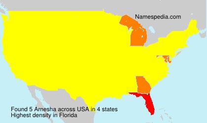 Surname Arnesha in USA