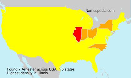 Familiennamen Arnester - USA