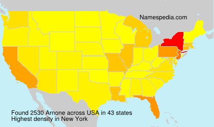 Surname Arnone in USA