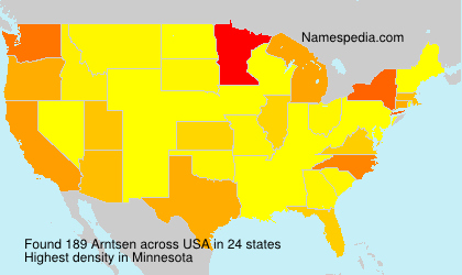 Surname Arntsen in USA