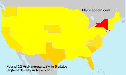 Surname Arok in USA