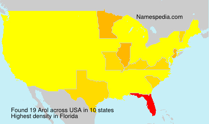 Surname Arol in USA
