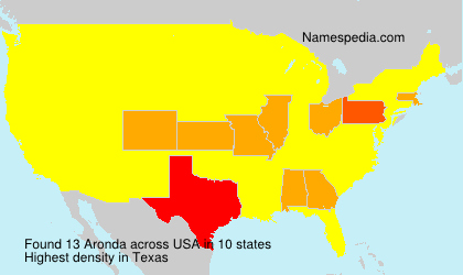 Surname Aronda in USA