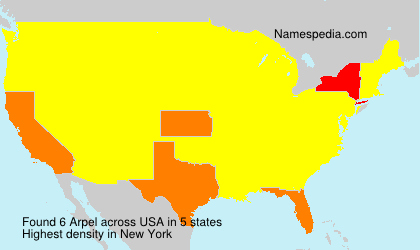 Surname Arpel in USA