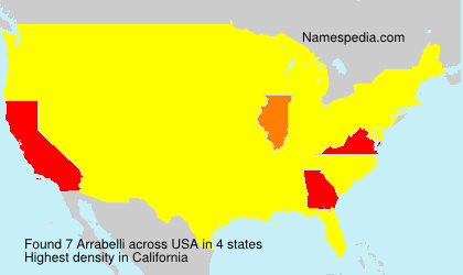 Surname Arrabelli in USA