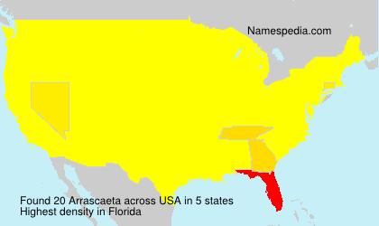 Familiennamen Arrascaeta - USA