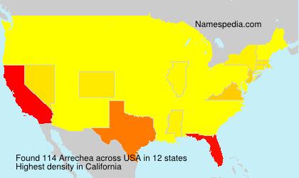 Familiennamen Arrechea - USA