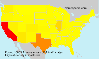 Surname Arreola in USA