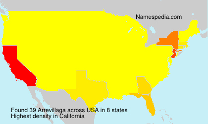 Surname Arrevillaga in USA
