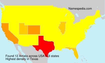 Surname Arriata in USA