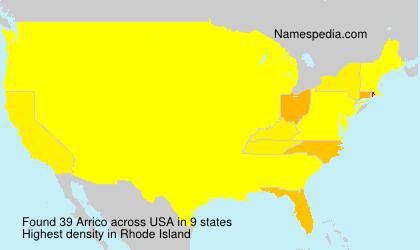 Familiennamen Arrico - USA