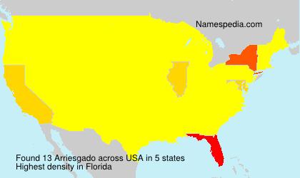 Surname Arriesgado in USA