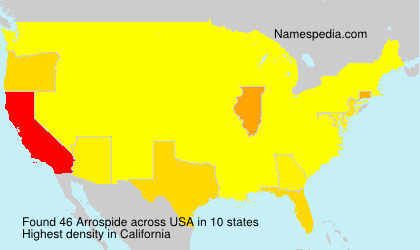 Surname Arrospide in USA