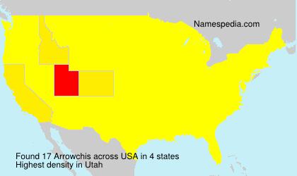 Familiennamen Arrowchis - USA