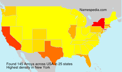 Surname Arroya in USA