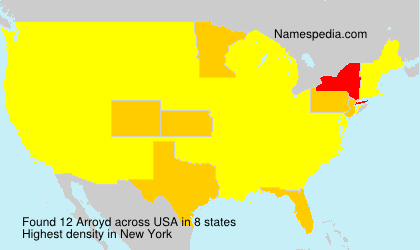 Surname Arroyd in USA