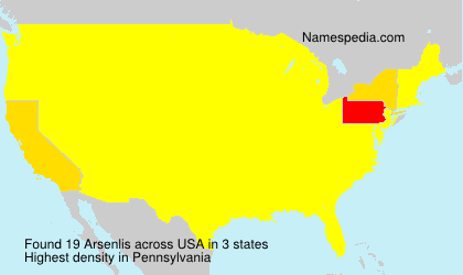 Surname Arsenlis in USA
