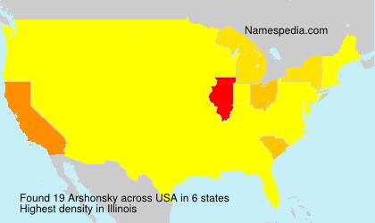Familiennamen Arshonsky - USA