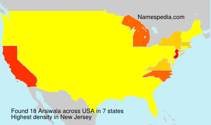 Surname Arsiwala in USA