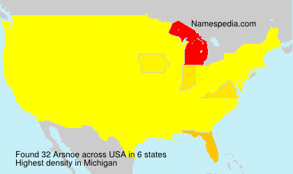 Surname Arsnoe in USA