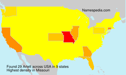 Surname Artelt in USA