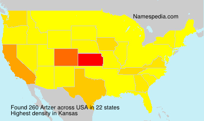 Surname Artzer in USA
