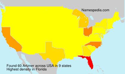 Familiennamen Artzner - USA