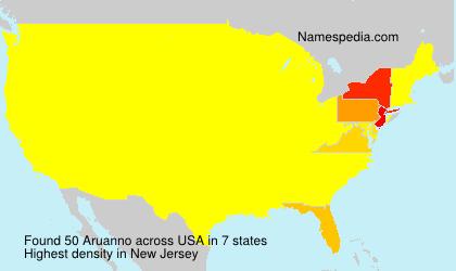 Surname Aruanno in USA