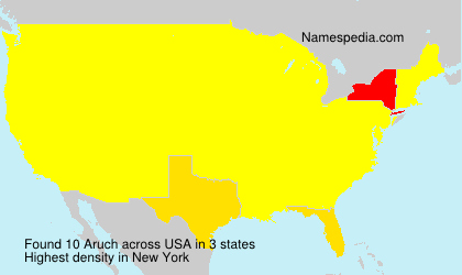 Surname Aruch in USA