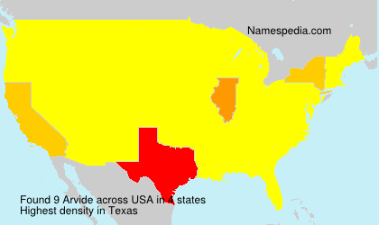 Surname Arvide in USA
