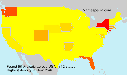 Surname Arvisais in USA