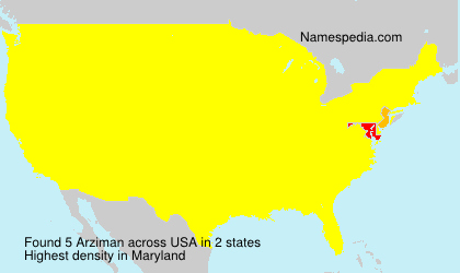 Surname Arziman in USA