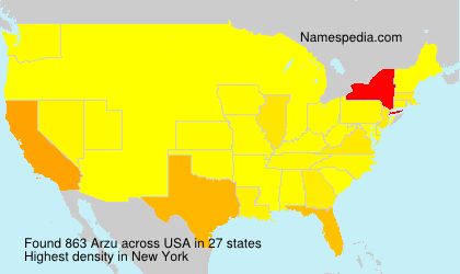 Surname Arzu in USA
