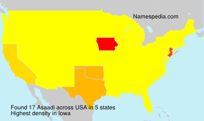 Surname Asaadi in USA