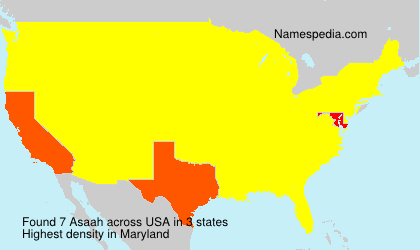 Surname Asaah in USA