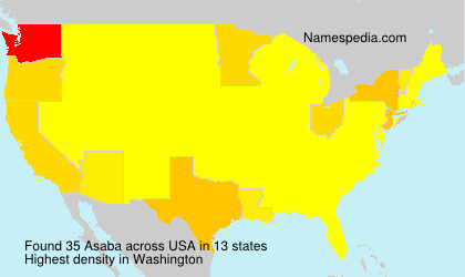 Surname Asaba in USA